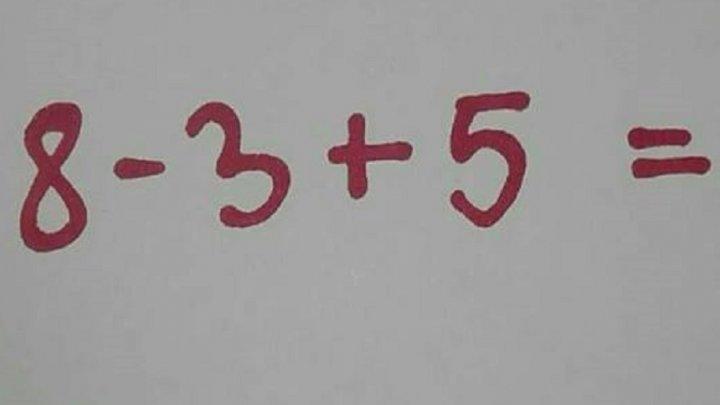 Răspunsul care a şocat o mulţime de oameni. Cum a fost rezolvată o ecuaţie simplă (FOTO)