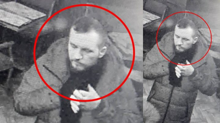 ATENŢIE! Bărbatul care apare în imagini este căutat de poliţişti