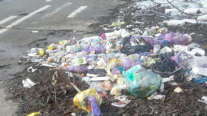 REVOLTĂTOR! Locuitorii din Tohatin aruncă gunoiul pe marginea drumului. Imagini dezolante pe carosabil (FOTO)