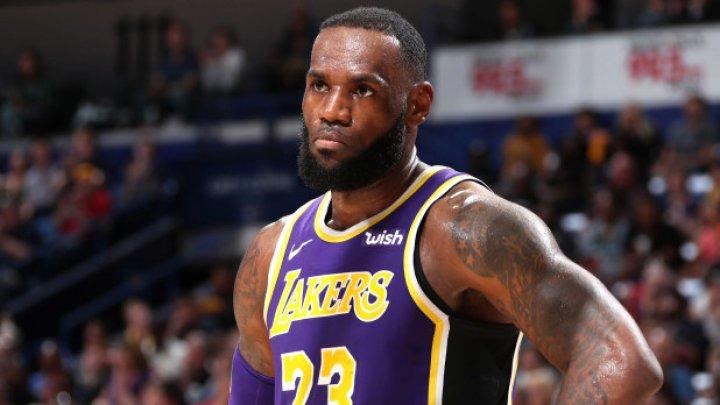 Starul formaţiei Los Angeles Lakers, LeBron James a înscris 27 de puncte în partida cu New Orleans Pelicans