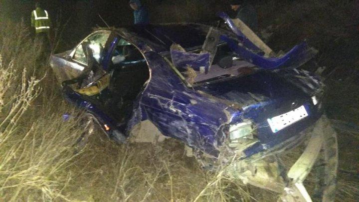 ACCIDENT GRAV în apropiere de Cojuşna: O maşină făcută praf (FOTO)
