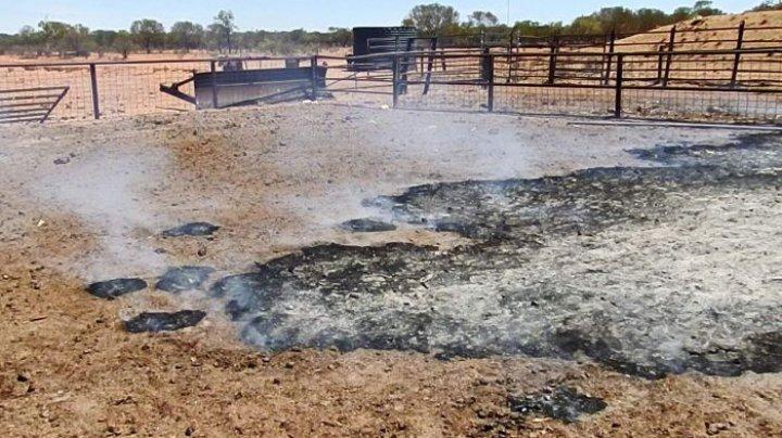 FENOMEN INEXPLICABIL. Pământul de la o fermă din Australia arde mocnit de mai multe zile (VIDEO)