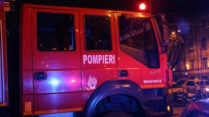 Incendiu într-un bloc din Cluj-Napoca: Un rănit și nouă persoane evacuate