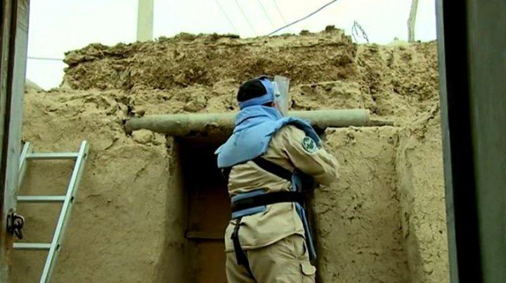 Proiectile sovietice neexplodate au fost folosite drept MATERIALE de construcții într-un sat afganez