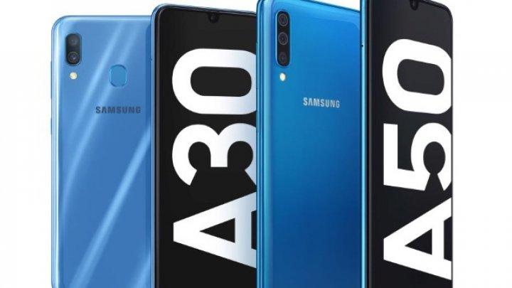 Samsung a prezentat noile modele Galaxy A50 şi A30, cu ecran Infinity-U şi camere foto ultra-wide