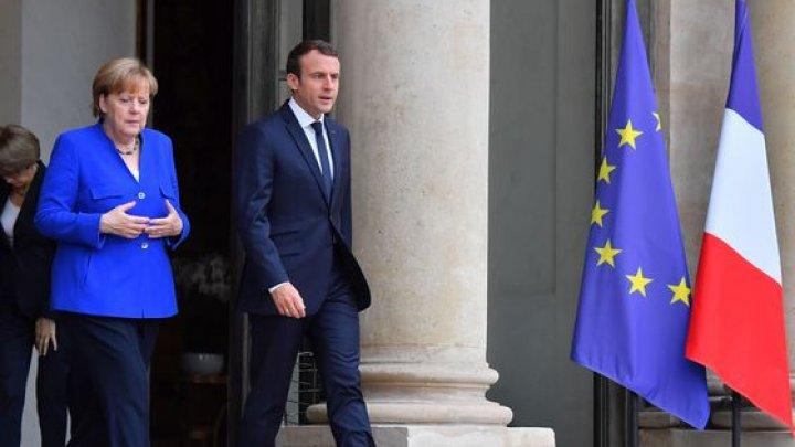 Emmanuel Macron şi Angela Merkel vor avea o întâlnire oficială. Ce subiecte importante vor discuta