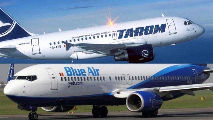 BLUE AIR ŞI TAROM, PARTENERI. Pasagerii unei companii vor putea călători cu cealaltă