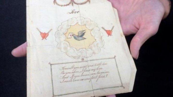 Ce scrie în cea mai veche felicitare de Valentine's Day din lume