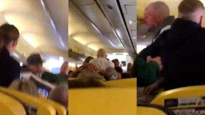 MOTIVUL AMUZANT pentru care doi bărbați s-au luat la bătaie într-un avion