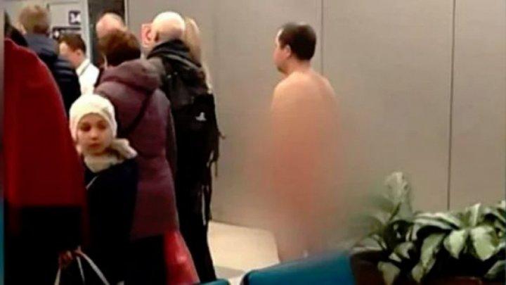 Un bărbat GOL PUȘCĂ a vrut să se îmbarce într-un avion. Ce a explicat acesta (VIDEO)