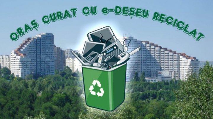 VESTE BUNĂ! În Moldova au apărut coșuri de gunoi special destinate pentru e-deșeuri (VIDEO)