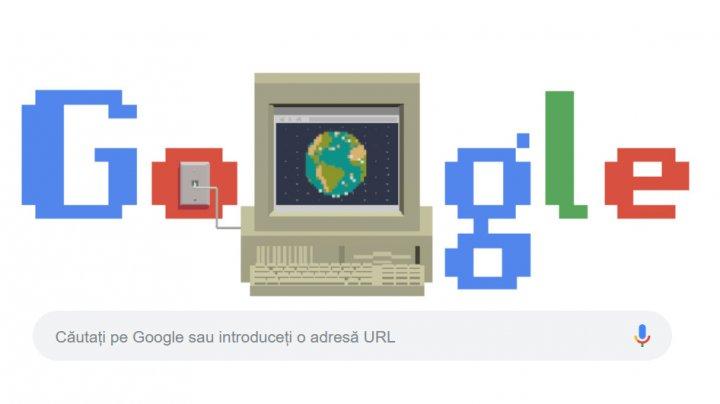 Google sărbătorește World Wide Web printr-un doodle omagial pe motorul său de căutare