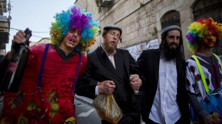 PURIM, SĂRBĂTOAREA BUCURIEI: Evreii din Chişinău au organizat un carnaval
