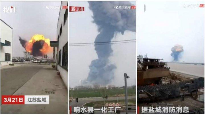 Bilanţul exploziei de la o uzină chimică din estul Chinei a urcat la 78 de morţi