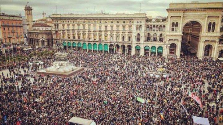 Sute de mii de persoane au participat la un marş împotriva rasismului la Milano