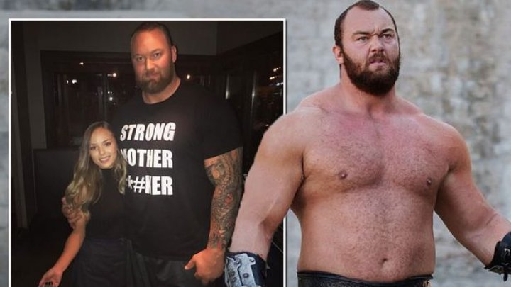 """The Mountain"" din Game of Thrones, are o soţie INVERS PROPORŢIONALĂ mărimilor lui (GALERIE FOTO)"