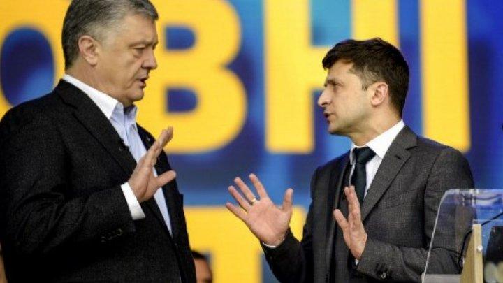 PRIMELE DECLARAŢII făcute de Zelenski şi Poroşenko după publicarea rezultatelor Exit Poll