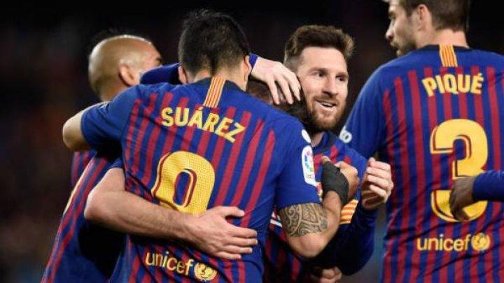 FC BARCELONA, APROAPE DE TITLU. Catalanii au câştigat cu 2-0 meciul cu Deportivo Alaves