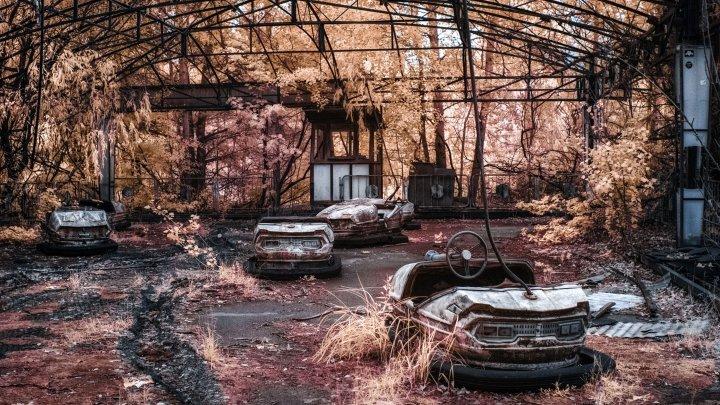 """""""Un paradis de pe altă planetă!"""" Imagini infraroșu spectaculoase de la Cernobîl"""