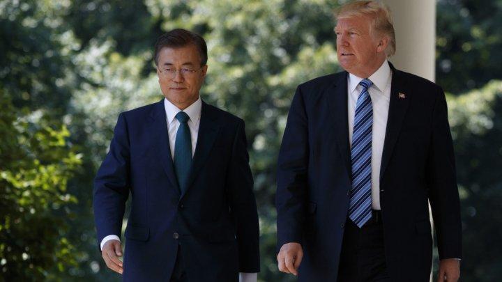 Preşedintele sud-coreean şi Trump vor avea o discuţie ce vizează paşii concreţi de denuclearizare a Peninsulei Coreea