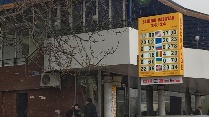 Casele de schimb valutar au afişat cursul de astăzi. Un EURO costă 20 DE LEI şi 32 DE BANI