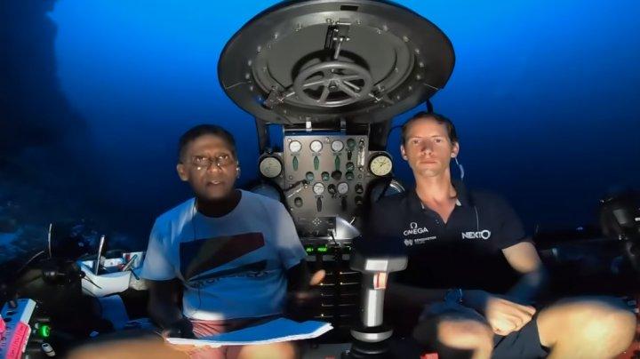 Discurs LIVE INEDIT dintr-un submarin: Preşedintele insulelor Seychelles a vorbit despre protejarea oceanelor (VIDEO)