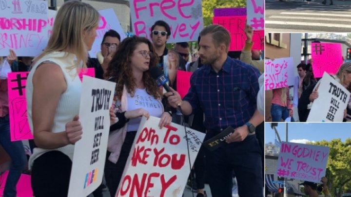 Protest în Los Angeles pentru externarea lui Britney Spears. Cântăreața ar fi internată împotriva voinței ei