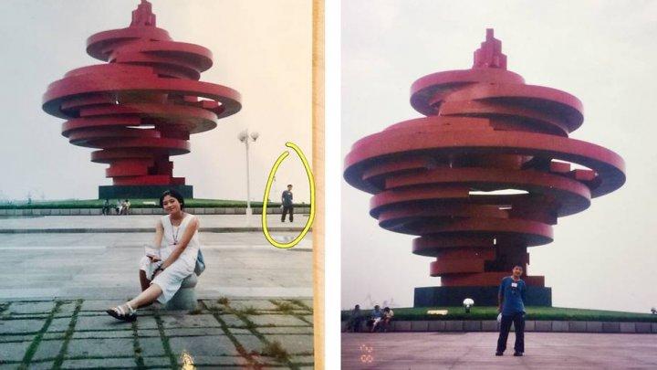 Un bărbat s-a recunoscut în fotografia soției lui, făcută cu 11 ani înainte să se cunoască
