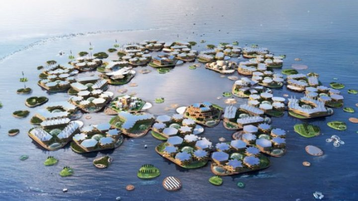 Cum arată oraşul plutitor, care poate adăposti până la 10.000 de oameni (IMAGINI CARE ÎŢI TAIE RESPIRAŢIA)