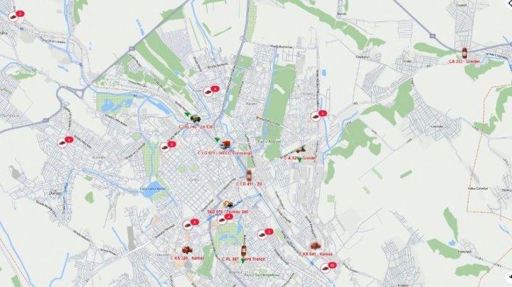 Date deschise pentru monitorizarea locației utilajelor de intervenție la salubrizare, prin aplicație GPS (LINK)