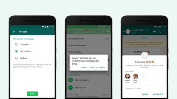 WhatsApp adaugă o nouă opţiune pentru blocarea invitaţiilor nedorite