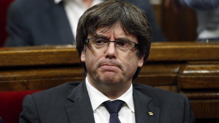 Carles Puigdemont şi-a prezentat candidatura în alegerile pentru Parlamentul European