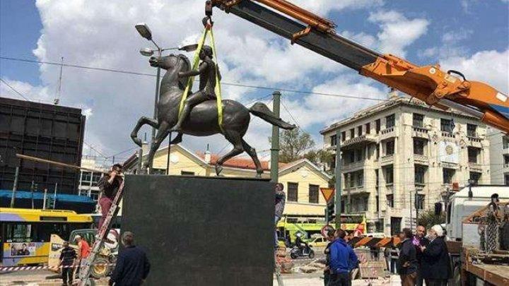 O statuie a lui Alexandru cel Mare a fost instalată la Atena
