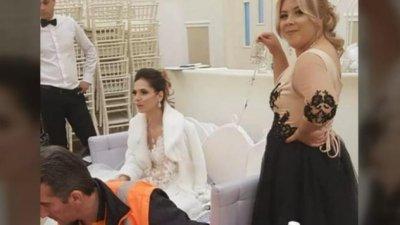 Moment emoţionant. Nuntă cu mireasa conectată la aparatul de respirat