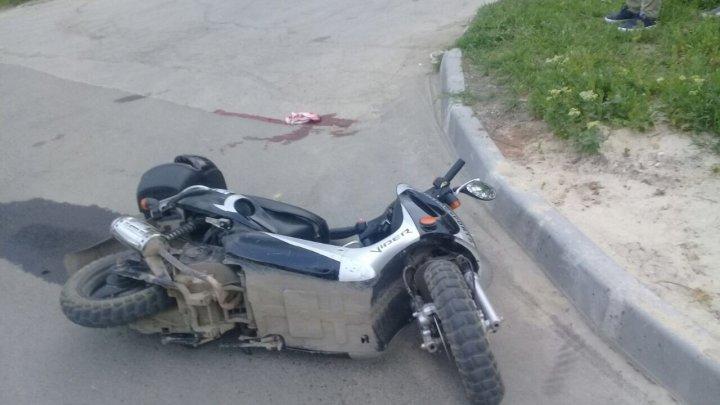 ACCIDENT cu implicarea unei motociclete, în Călărași. Un bărbat de 33 de ani, în stare gravă la spital