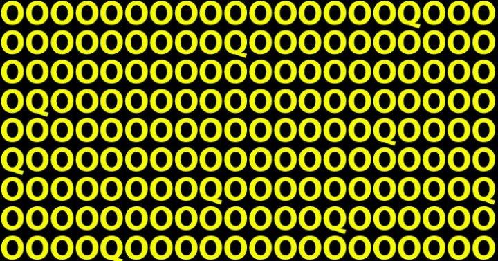 Doar oamenii cu un IQ ridicat trec acest test: câte litere Q vedeți în imagine