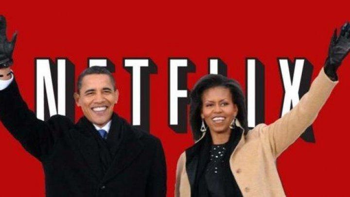 Soții Obama vor produce pentru Netflix adaptarea unei cărți despre Donald Trump