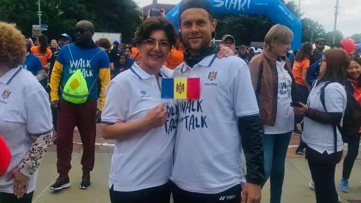 Adunare Mondială a Sănătății: Silvia Radu a alergat alături de Radu Albot pentru a promova un stil de viață sănătos (FOTO)