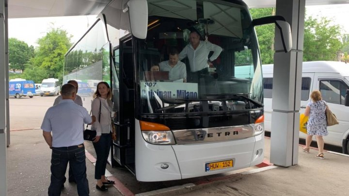 A fost lansată prima cursă de transport de pasageri Chișinău-Milano. Prin ce oraşe va merge autocarul şi cât costă biletul
