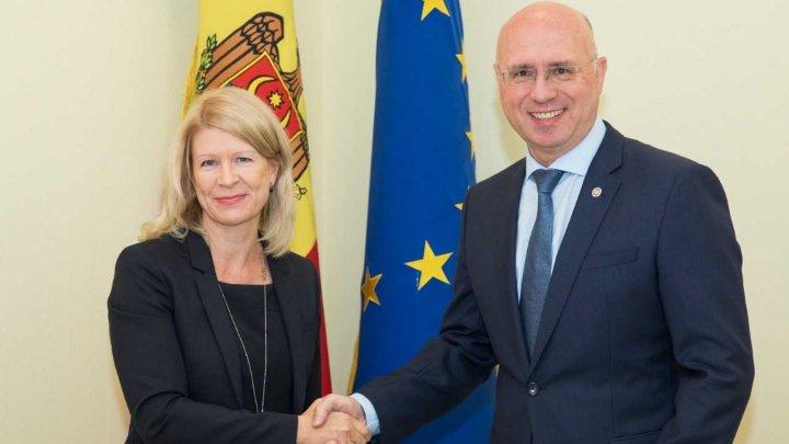 Pavel Filip a avut o întrevedere cu ambasadoarea Finlandei la Chișinău: Moldova și Finlanda își vor extinde cooperarea în domeniul educației