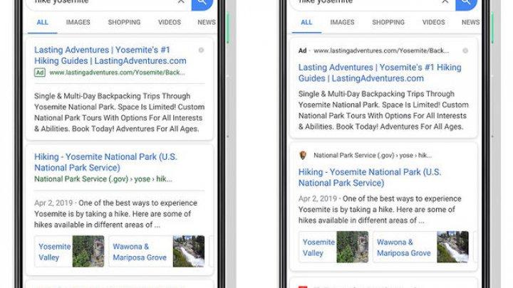 Google Search primeşte modificări în interfaţa pentru mobil