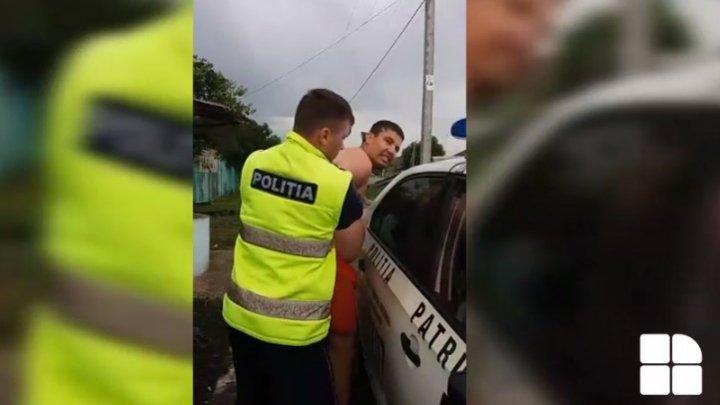 PUMNI și CEARTĂ! Un șofer BEAT și AGRESIV a făcut SPECTACOL în fața polițiștilor (IMAGINI REVOLTĂTOARE)