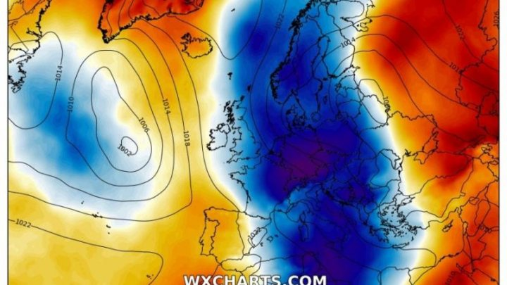 Un val de aer Arctic extrem de rece și rar pentru luna mai va pune stăpânire pe Europa
