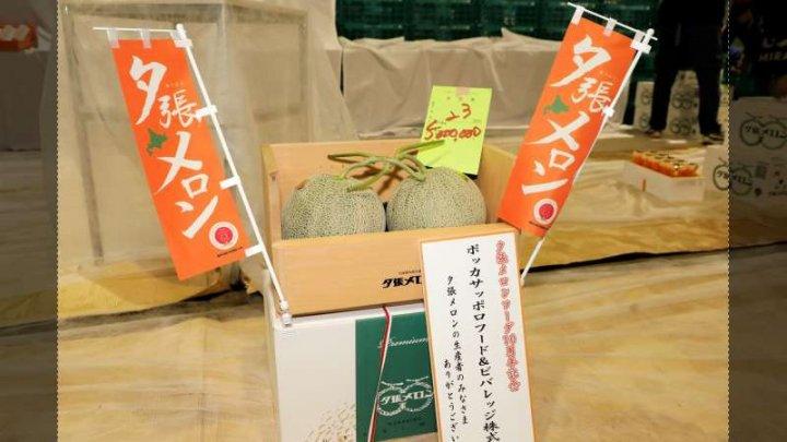 Sumă RECORD pentru doi pepeni galbeni vânduţi la o licitaţie din Japonia