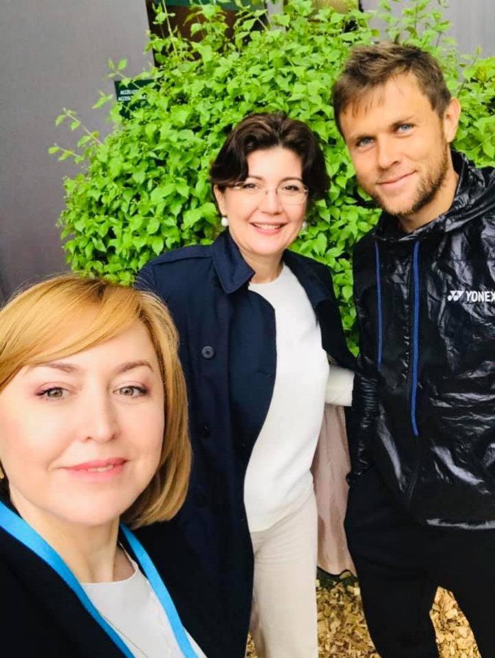 Ministrul Silvia Radu, alături de tenismenul Radu Albot, la turneul ATP de la Geneva