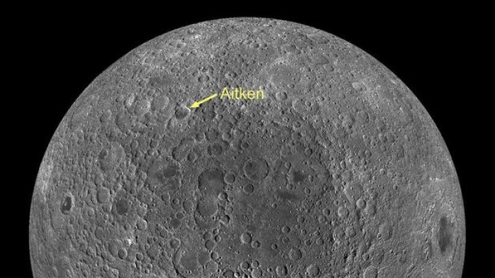 Astronomii au identificat o structură neobişnuită sub bazinul Aitken