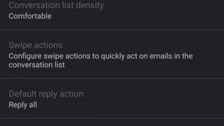 Aplicaţia Gmail pentru Android primeşte suport pentru interfaţa Dark Mode