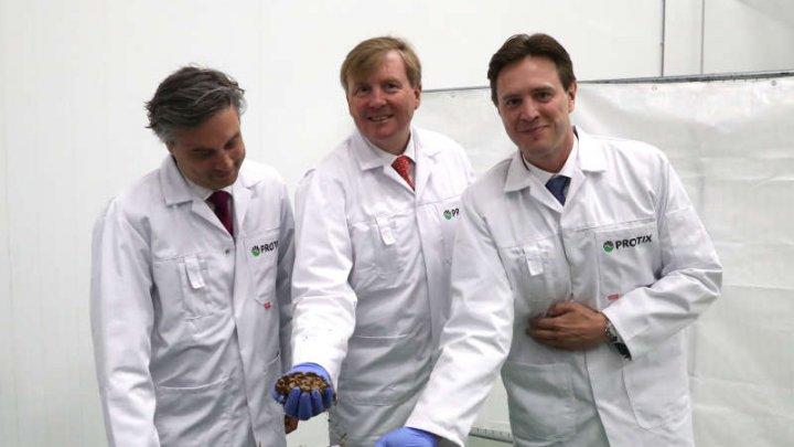 Regele Olandei a participat la inaugurarea unei ferme de insecte