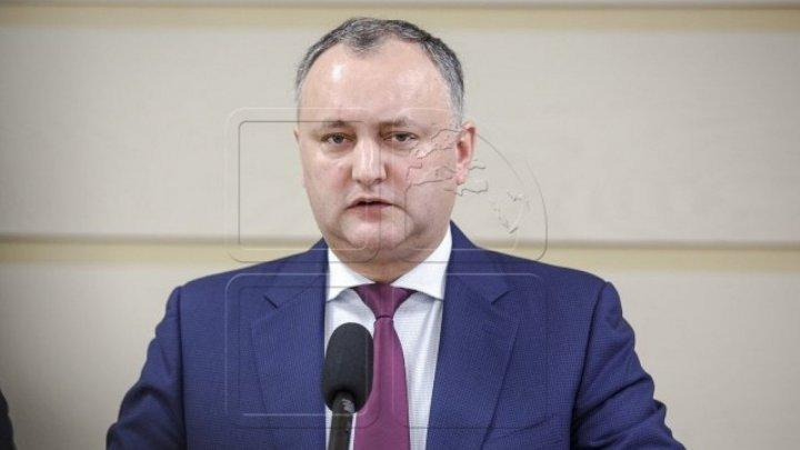 Igor Dodon îi cere Maiei Sandu să fie transparentă în realizarea condiționalităților cu FMI