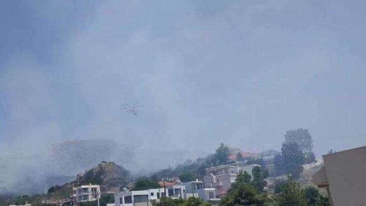 Incendiu într-o zonă rezidenţială din apropierea Atenei, pe fondul valului de căldură